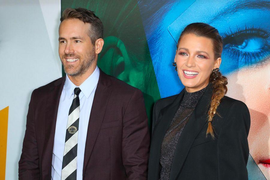 """Ryan Reynolds et Blake Lively à l'avant-première du film """"L'Ombre d'Emily"""" à New York, lundi 10 septembre"""
