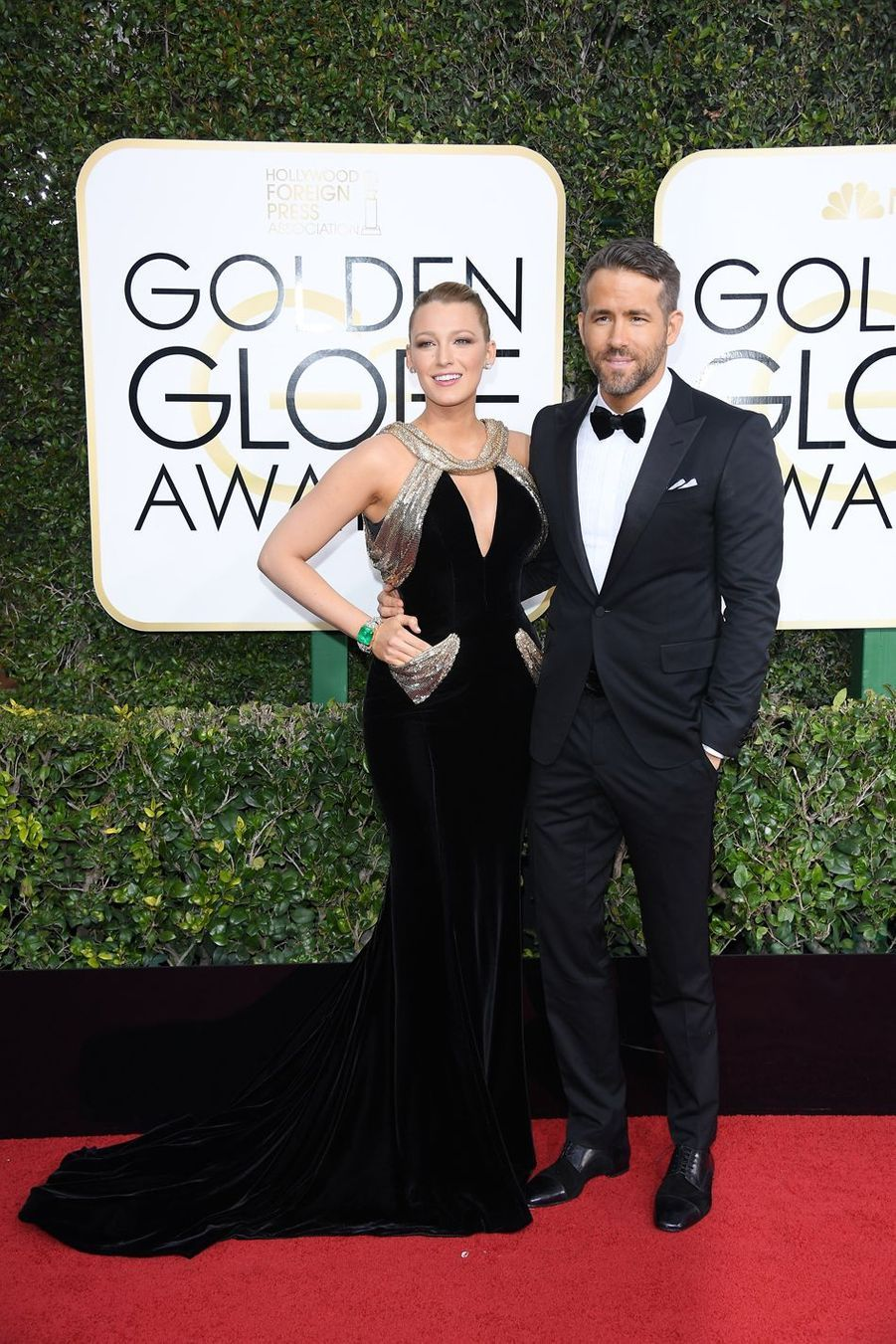 Blake Lively et Ryan Reynolds en 2017 aux Golden Globes