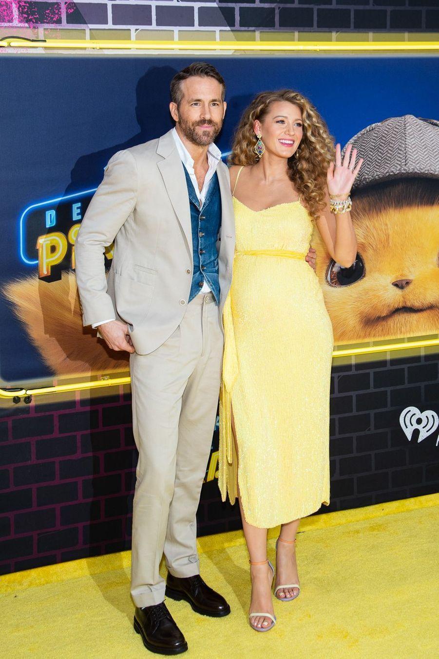 """Blake Lively et Ryan Reynolds en 2019 à l'avant-première de """"Pokemon : Détective Pikachu"""""""