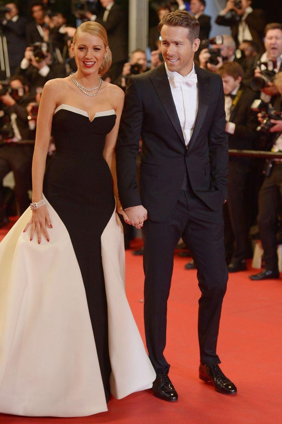Blake Lively et Ryan Reynolds en 2014 au festival de Cannes