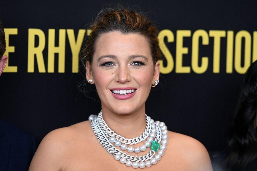 Blake Livelyà l'avant-première du film «The Rhythm Section» à New York le 27 janvier 2020