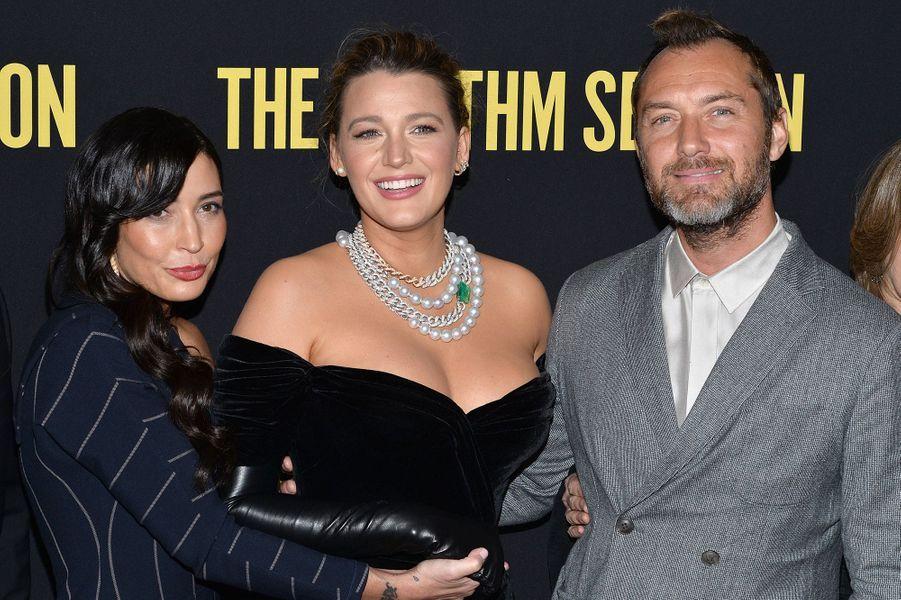 Reed Morano, Blake Lively et Jude Lawà l'avant-première du film «The Rhythm Section» à New York le 27 janvier 2020
