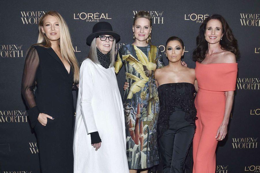 Eva Longoria, Diane Keaton, Aimee Mullins, Eva Longora et Andie McDowell