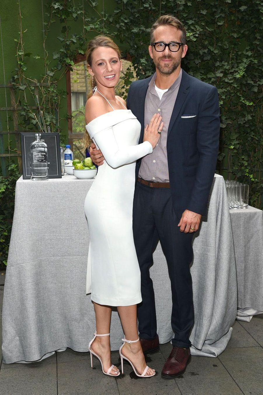 "Blake Lively et Ryan Reynolds à la soirée ""Avation Gin"" à New York le 7 août 2018"