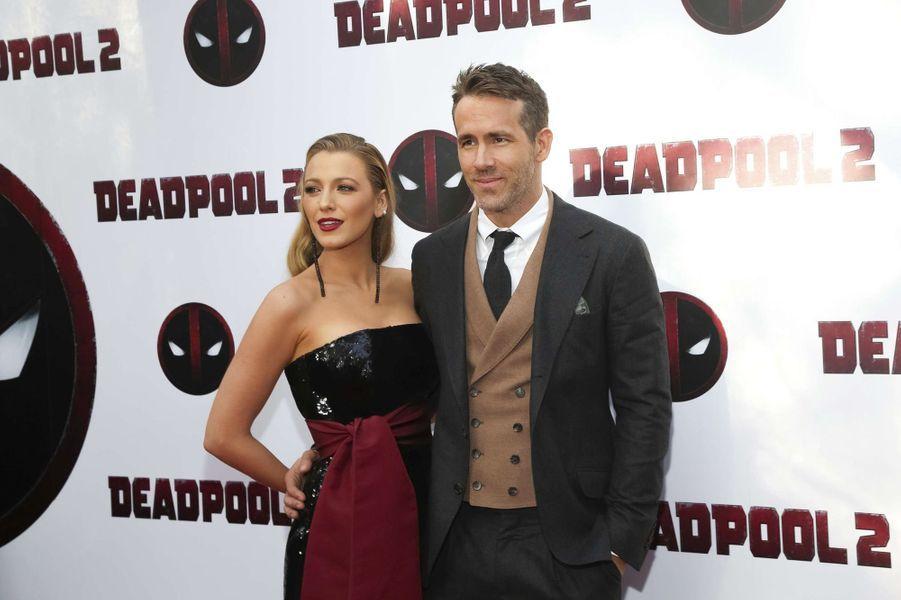 "Blake Lively et Ryan Reynolds ensemble à la première de ""Deadpool 2""."