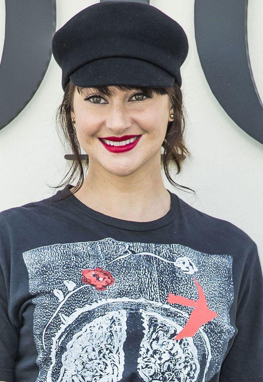 Shailene Woodley au défilé Dior lundi à Paris