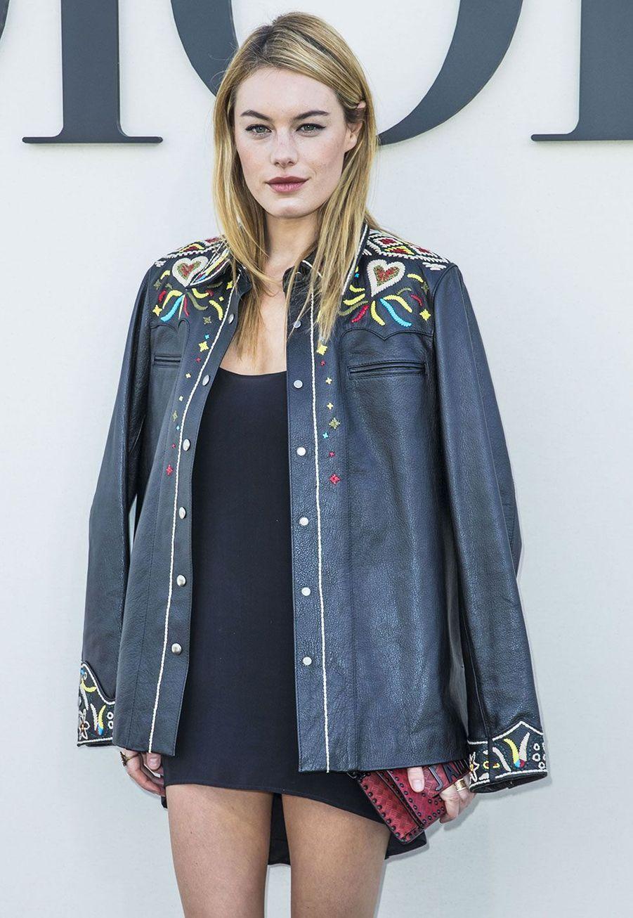 Camille Rowe au défilé Dior lundi, à Paris