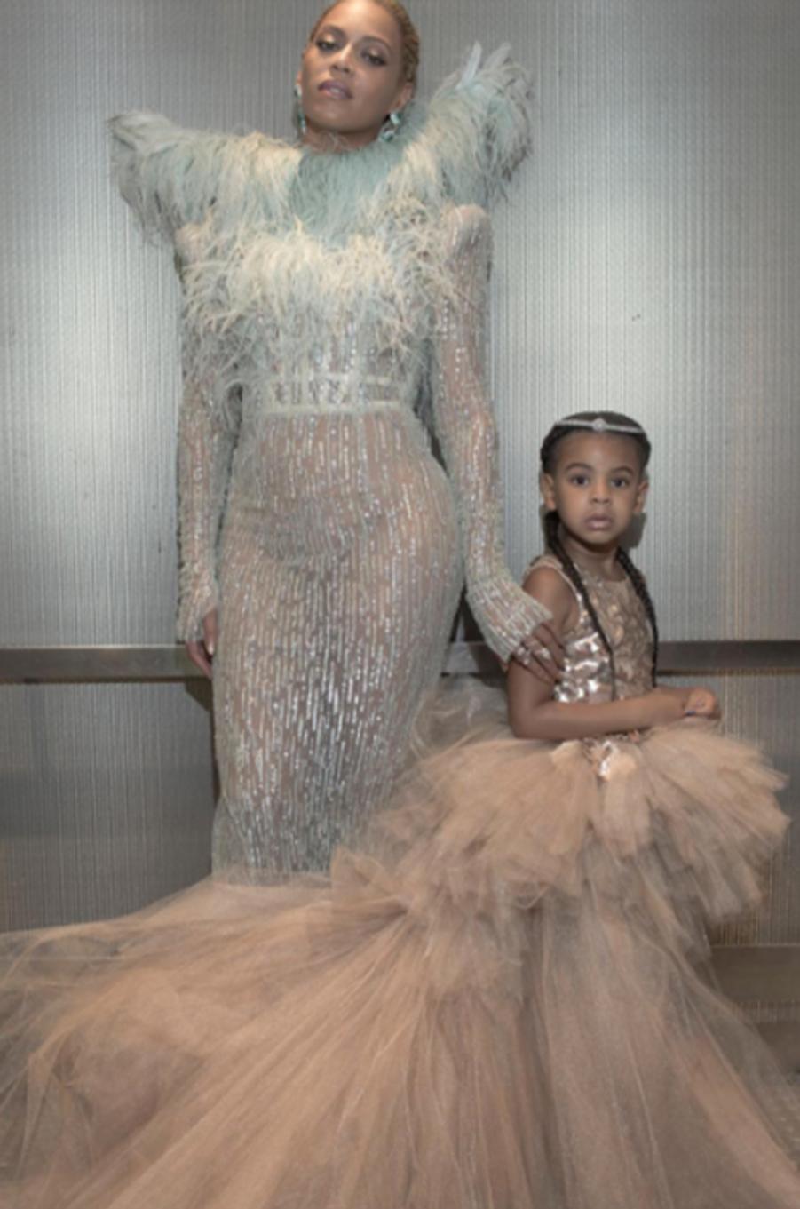 Beyoncé et sa fille Blue Ivy aux VMA's en août 2016.