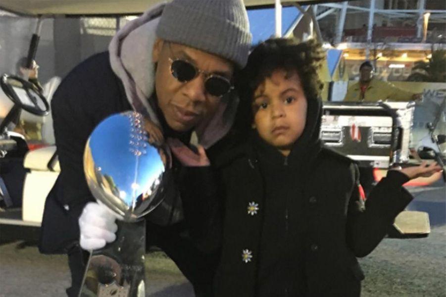 Blue Ivy et son daddy Jay Z.