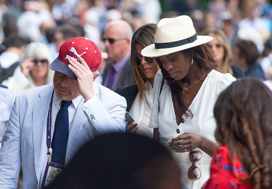 Boris Becker et Layla Powell à Wimbledon le 3 juillet 2019