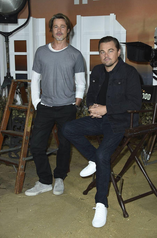 Brad Pitt et Leonardo DiCaprio à Los Angeles le 11 juillet 2019