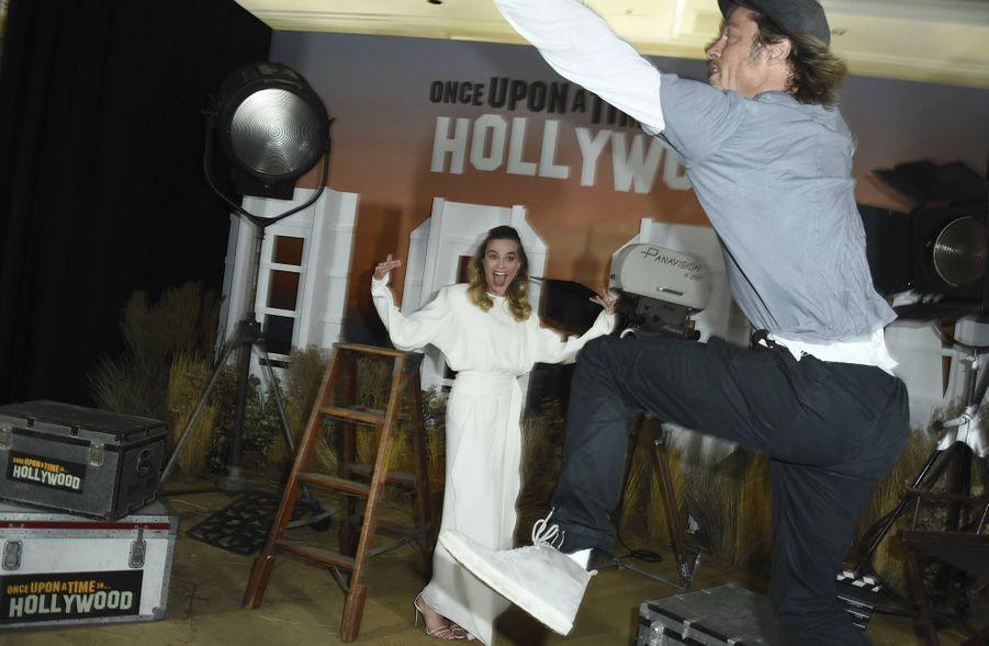 Margot Robbie et Brad Pitt à Los Angeles le 11 juillet 2019