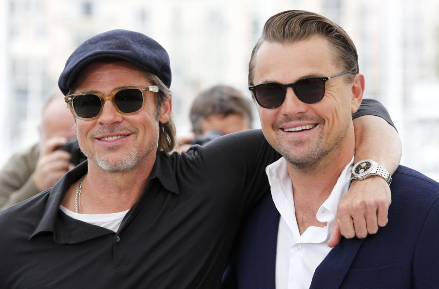Brad Pitt et Leonardo DiCaprio au photocall du film «Once Upon A Time In Hollywood» à Cannes le 22 mai 2019