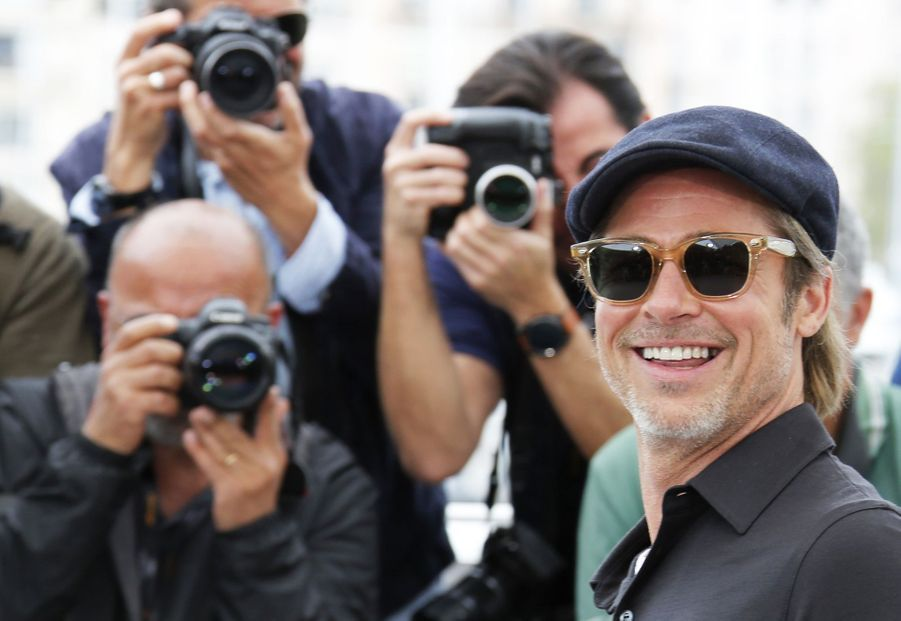 Brad Pitt au photocall du film «Once Upon A Time In Hollywood» à Cannes le 22 mai 2019