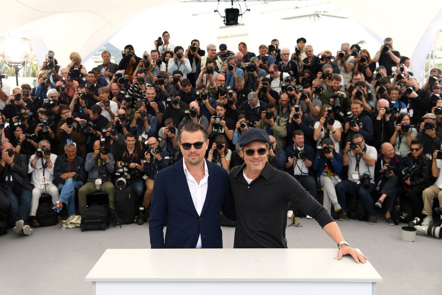 Leonardo DiCaprio et Brad Pitt au photocall du film «Once Upon A Time In Hollywood» à Cannes le 22 mai 2019