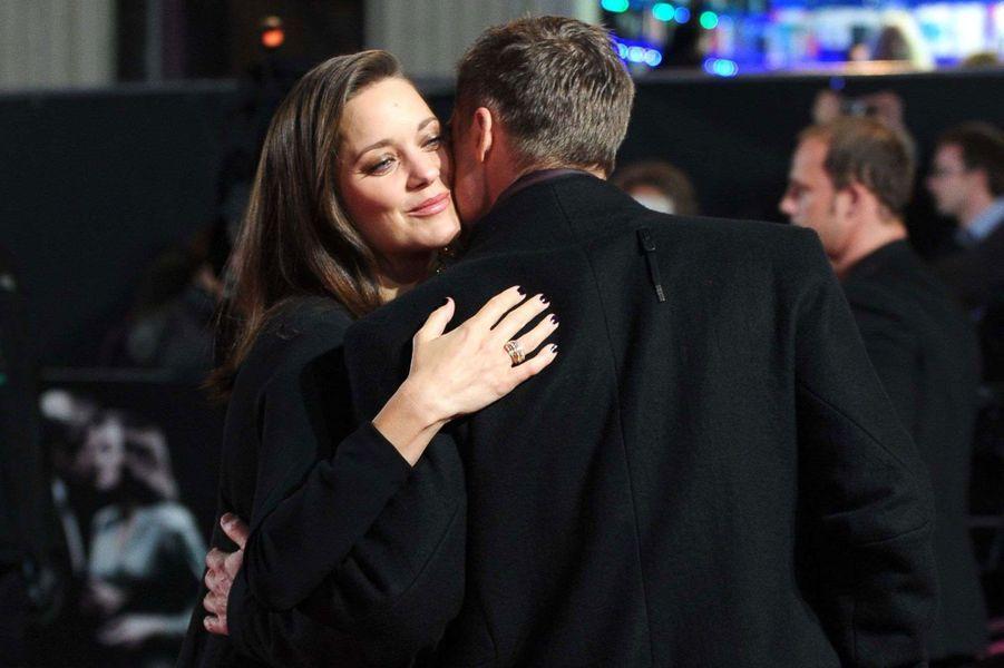 Marion Cotillard et Brad Pitt à Londres