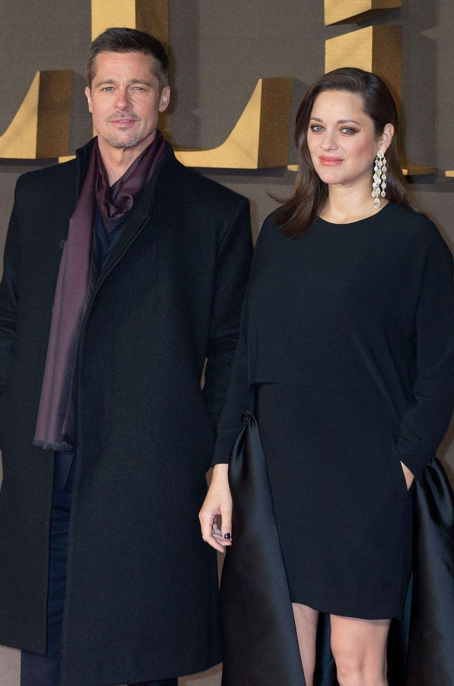 """Brad Pitt et Marion Cotillard à l'avant-première de """"Alliés"""" à Londres"""