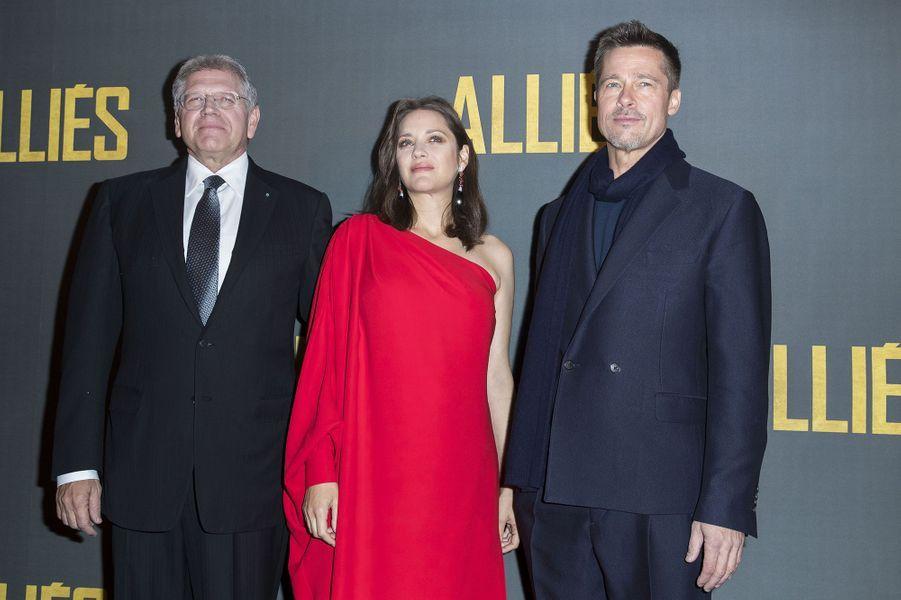 Les deux stars avec le réalisateur de légende Robert Zemeckis.