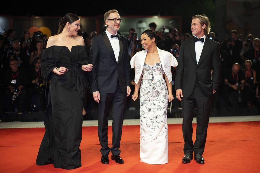 Liv Tyler, James Gray, Ruth Negga et Brad Pittlors de la première du film «Ad Astra» lors de la 76e édition de la Mostra de Venise le 29 août 2019