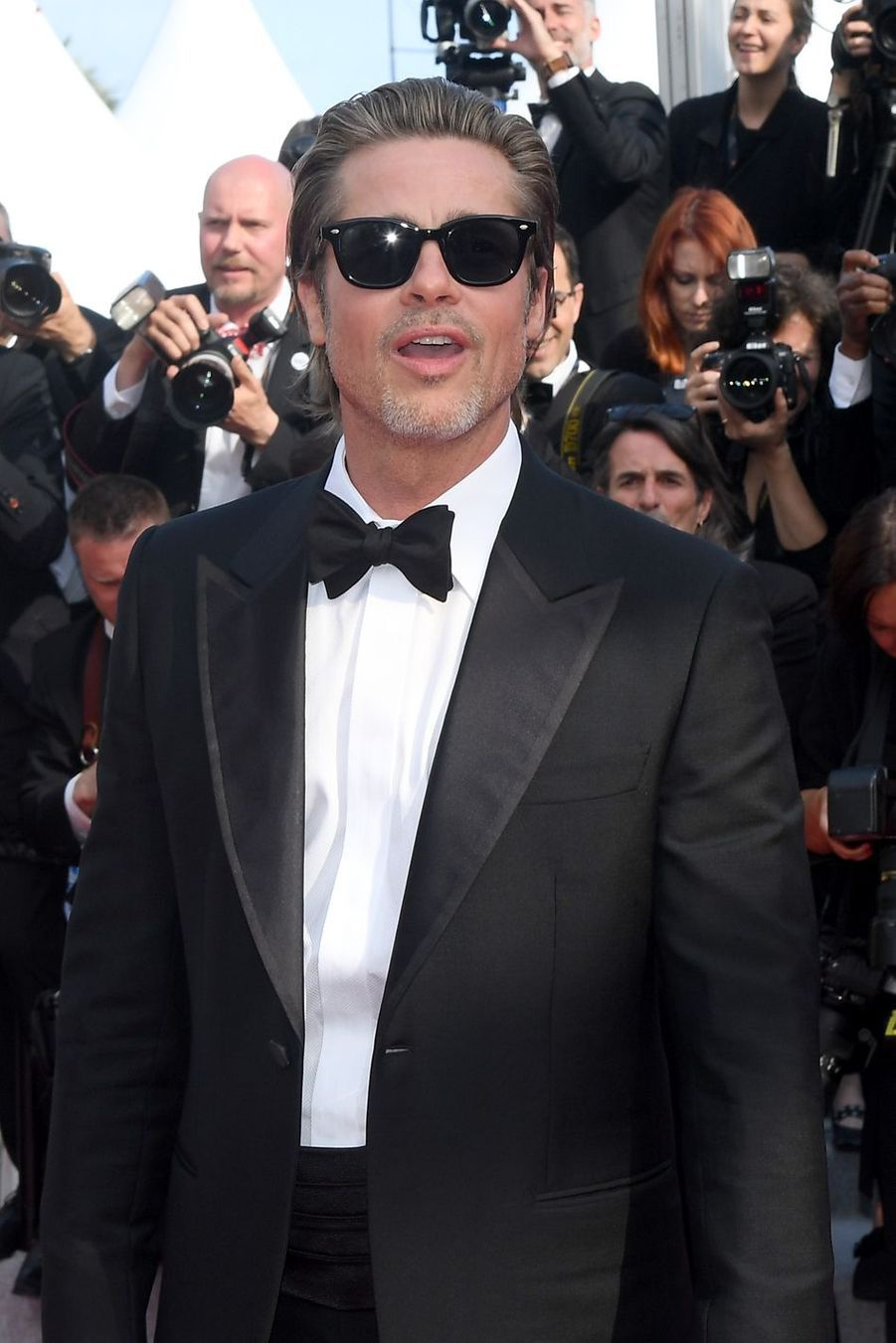 Brad Pitt lors de la montée des marches du film «Once Upon A Time In Hollywood» à Cannes le 21 mai 2019