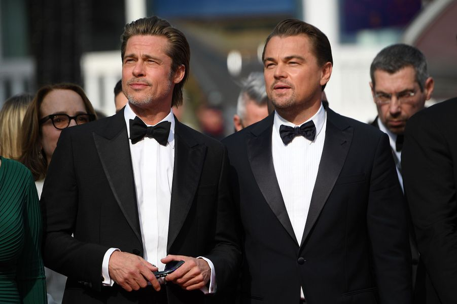 Brad Pitt et Leonardo DiCaprio lors de la montée des marches du film «Once Upon A Time In Hollywood» à Cannes le 21 mai 2019