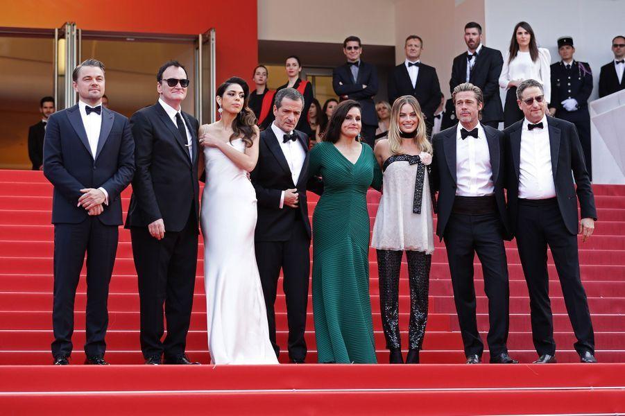 Leonardo DiCaprio, Quentin Tarantino, Daniella Pick, David Heyman, Shannon McIntosh, Margot Robbie et Brad Pittlors de la montée des marches du film «Once Upon A Time In Hollywood» à Cannes le 21 mai 2019