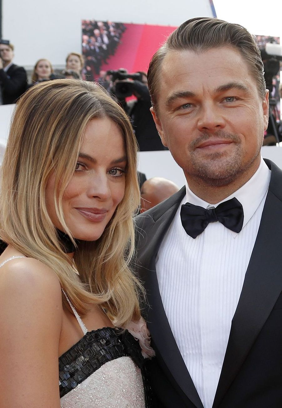 Margot Robbie et Leonardo DiCaprio lors de la montée des marches du film «Once Upon A Time In Hollywood» à Cannes le 21 mai 2019