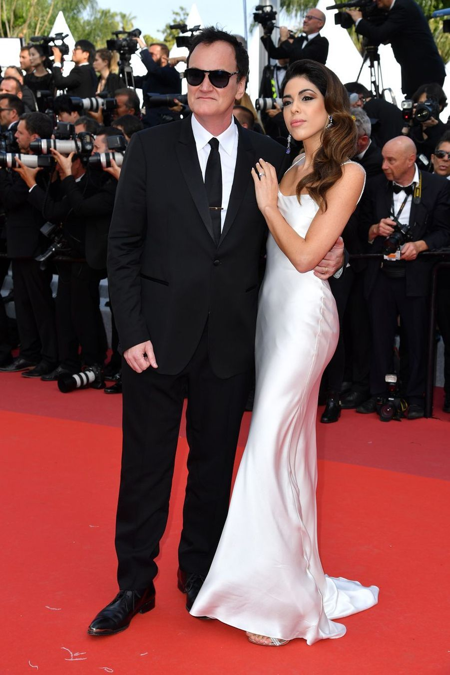 Quentin Tarantino et son épouse Daniella lors de la montée des marches du film «Once Upon A Time In Hollywood» à Cannes le 21 mai 2019