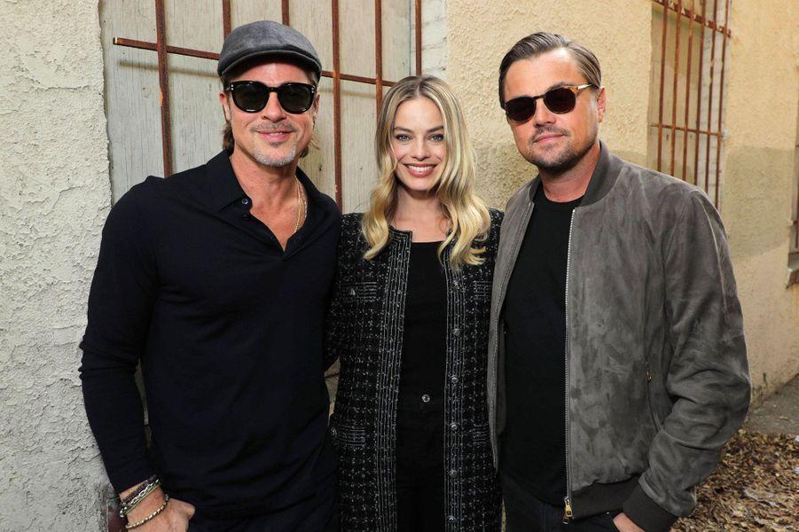 Brad Pitt, Leonardo DiCaprio et Margot Robbie.