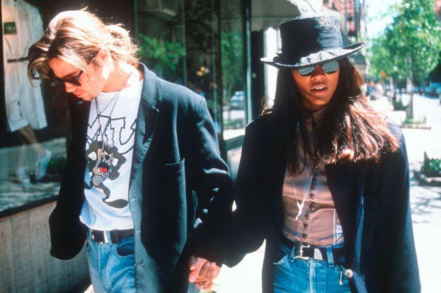 Brad Pitt et Robin Givens