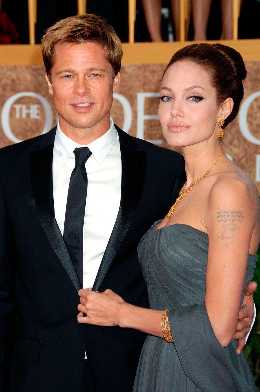 Brad Pitt et Angelina en 2007