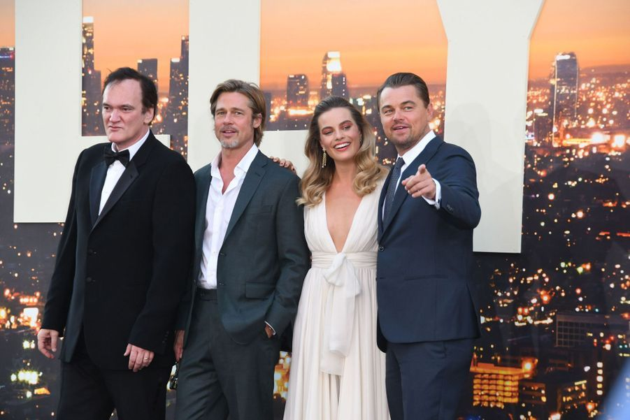 Quentin Tarantino, Brad Pitt, Margot Robbie et Leonardo DiCaprio