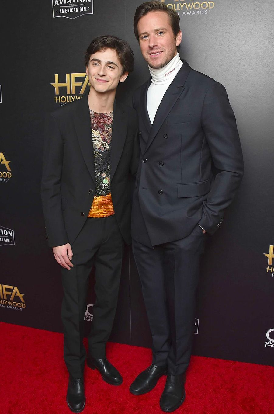 Timothée Chalamet et Armie Hammer aux Hollywood Film Awards