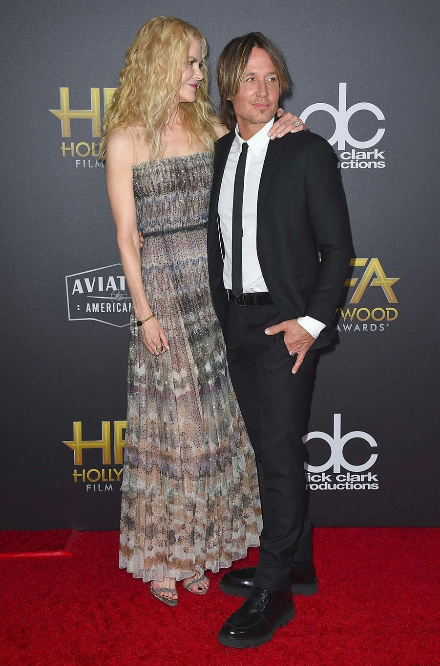 Nicole Kidman et son mari Keith Urban aux Hollywood Film Awards