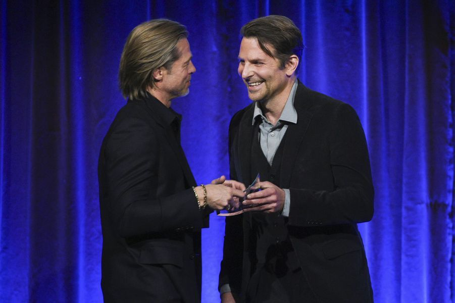 Brad Pitt et Bradley Cooper à la cérémonie du National Board of Review au Cipriani à New York le 8 janvier 2020
