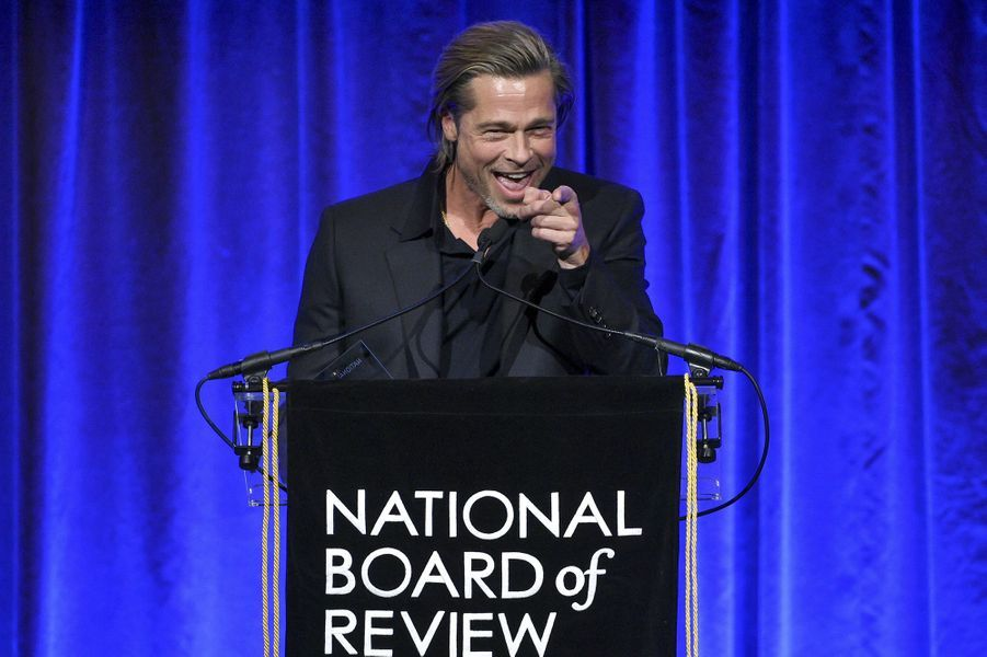 Brad Pitt à la cérémonie du National Board of Review au Cipriani à New York le 8 janvier 2020