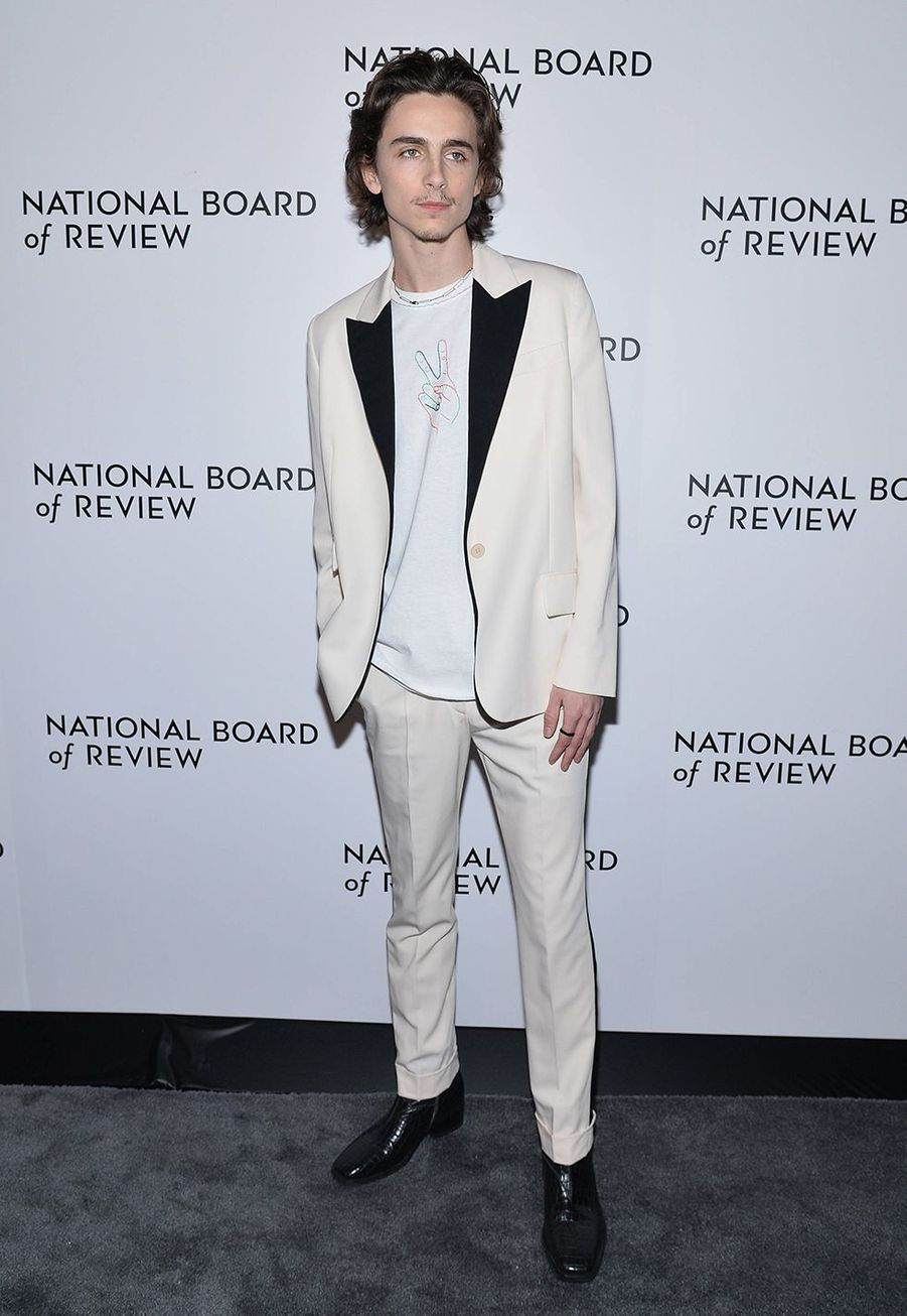 Timothée Chalamet à la cérémonie du National Board of Review au Cipriani à New York le 8 janvier 2020