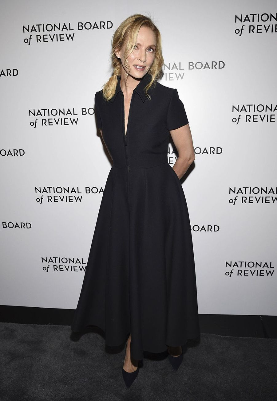 Uma Thurman à la cérémonie du National Board of Review au Cipriani à New York le 8 janvier 2020