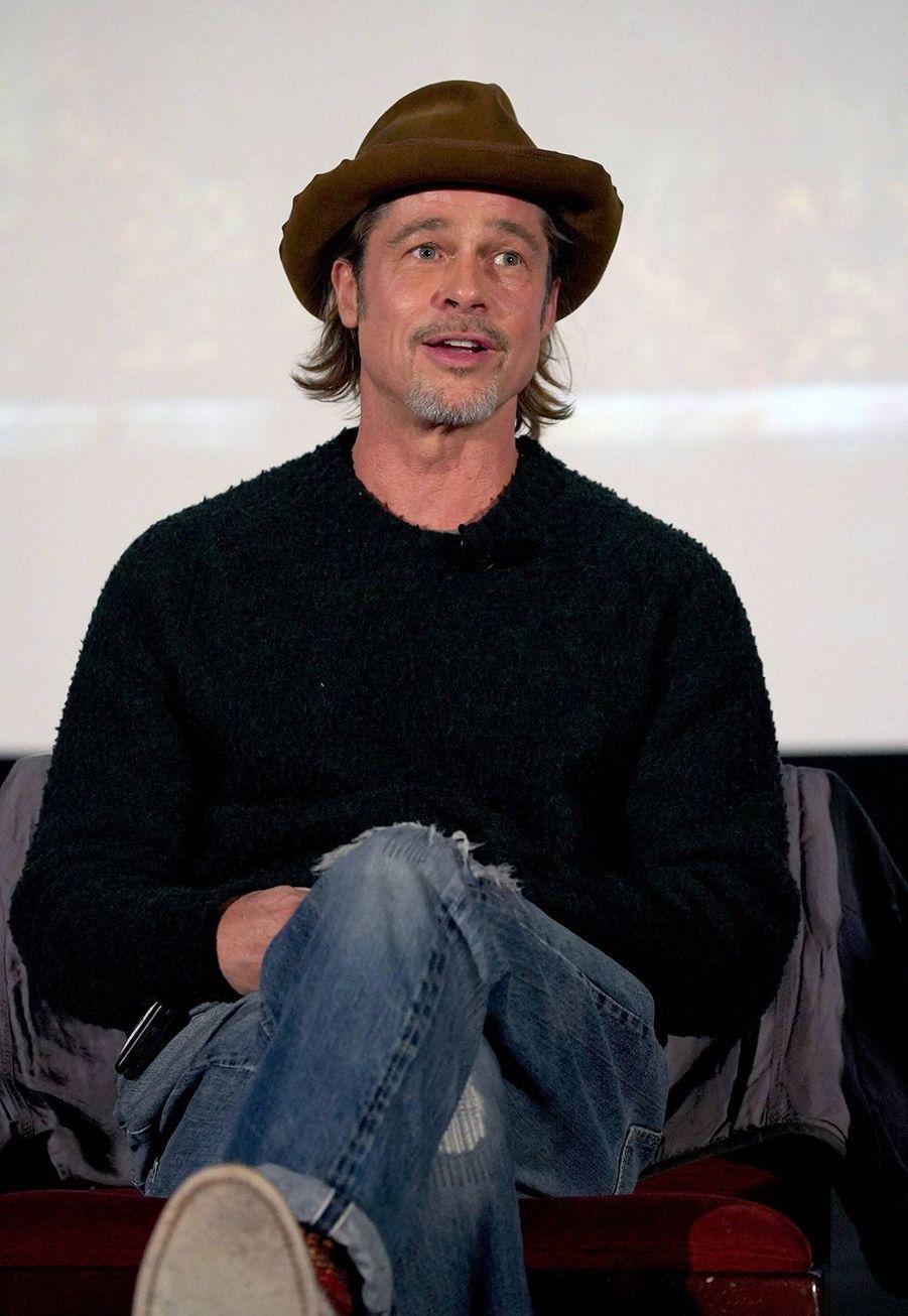 Brad Pittlors d'un panel Q&A autour du film «Once Upon A Time In Hollywood» à Los Angeles le 17 décembre 2019