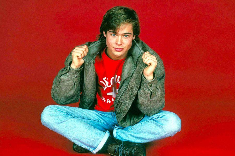Brad Pitt, à Los Angeles, en 1987