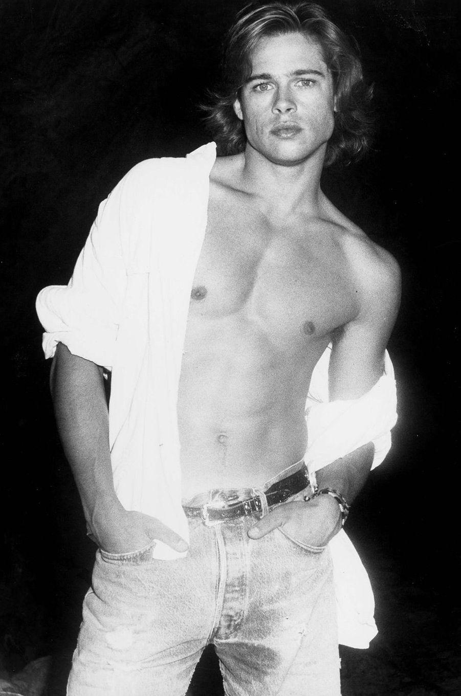 Brad Pitt, à Los Angeles, en 1988