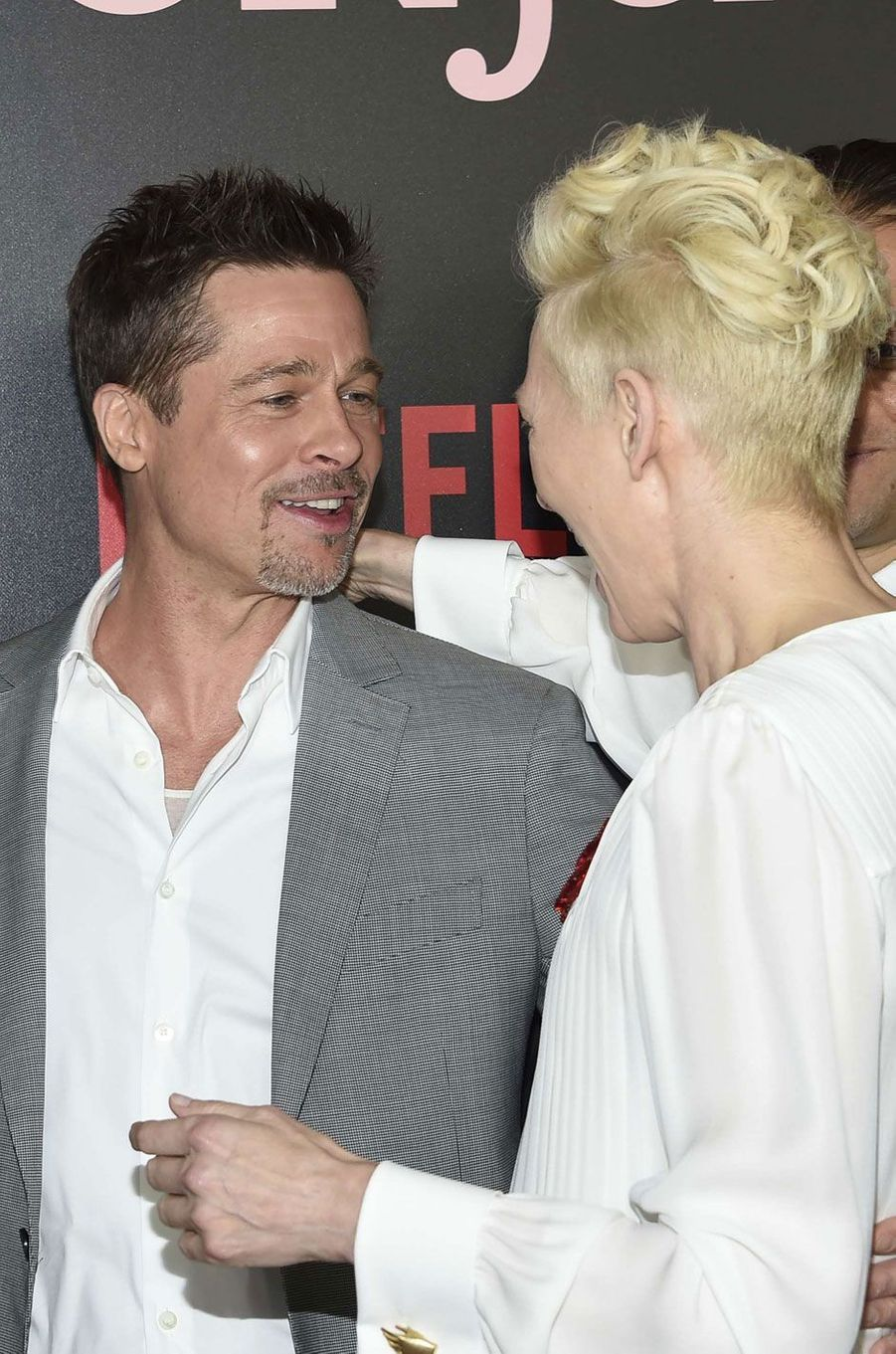 L'acteur Brad Pitt et Tilda Swinton