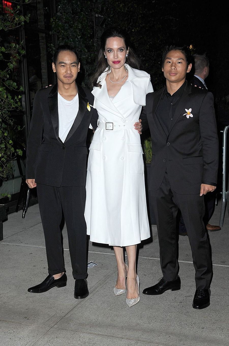 Angelina Jolie avec Maddox et Pax à New York en septembre 2017