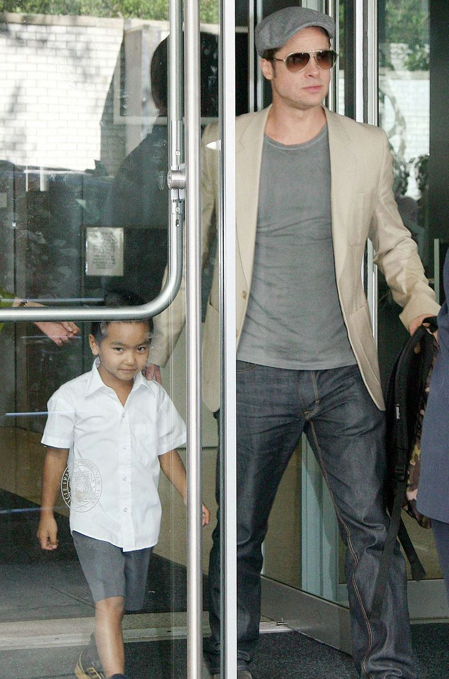 Brad Pitt avec Maddox à New York en septembre 2007