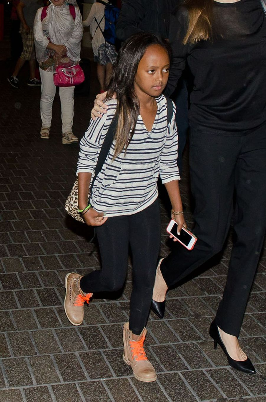 "Zahara, 11 ans, la ""killeuse"" pour les paparazzis."