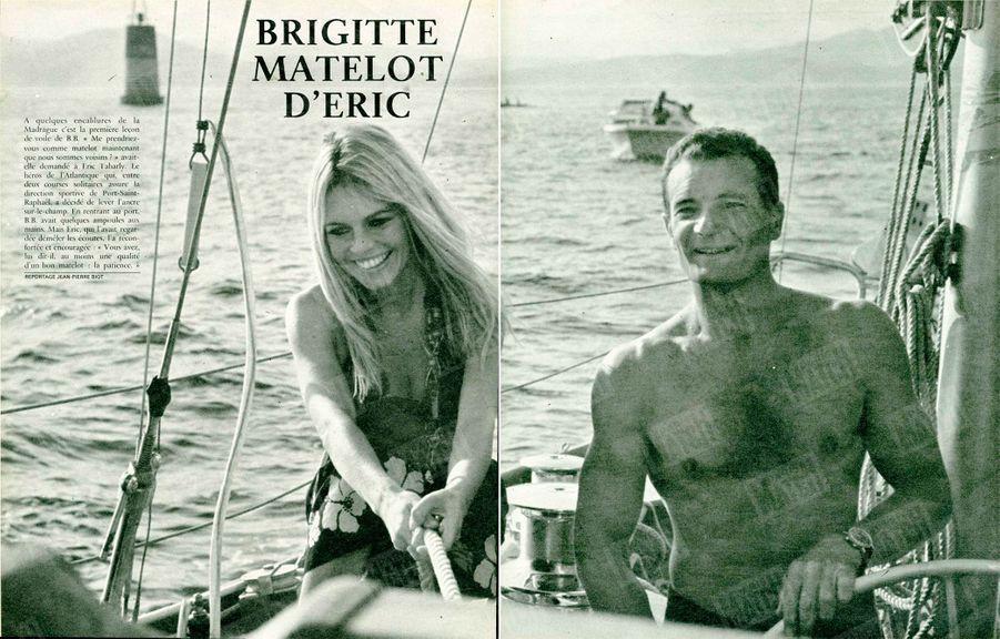 """""""Brigitte matelot d'Eric"""", dans Paris Match numéro 1009, daté du 7 septembre 1968."""
