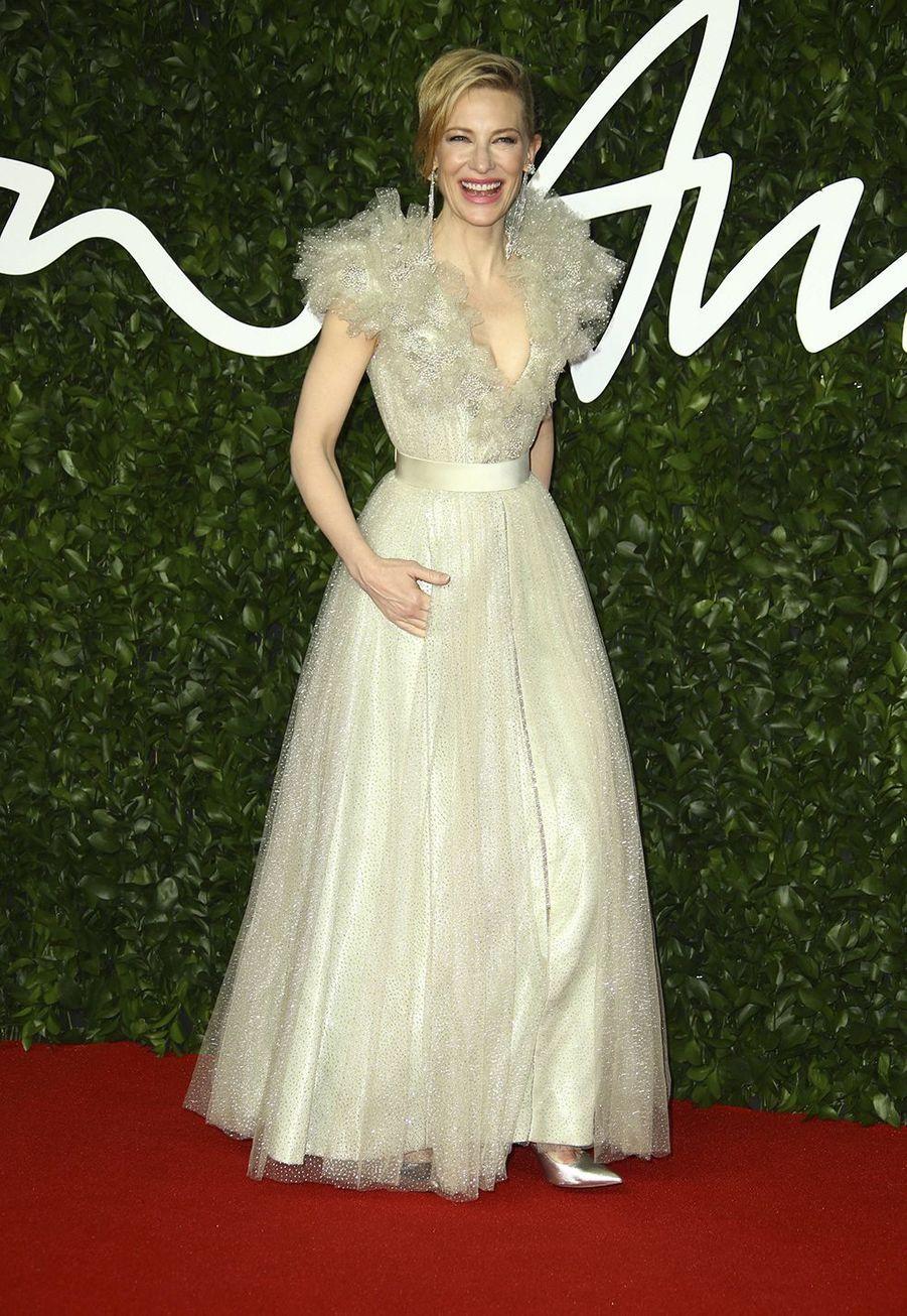 Cate Blanchettlors des British Fashion Awardsau Royal Albert Hall à Londres le 2 décembre 2019.