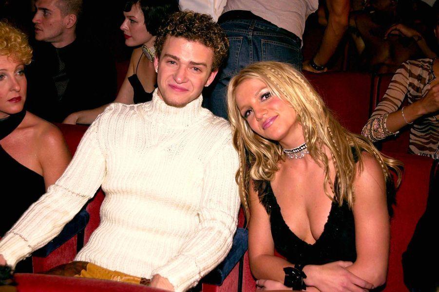 Britney Spears, avec Justin Timberlake, en septembre 2000
