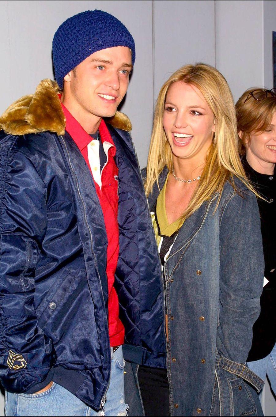 Britney Spears, avec Justin Timberlake, en février 2002