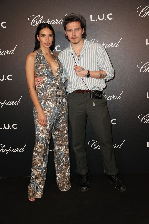 Brooklyn Beckham et sa compagne Hana Cross à Cannes, le 21 mai 2019